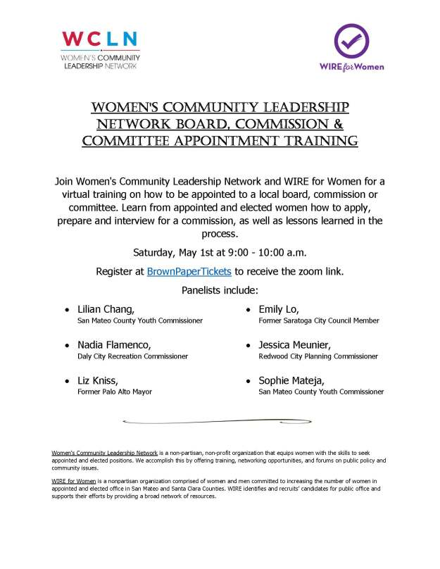WCLN Boards Commissions Flyer